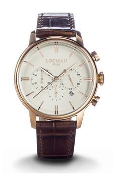 Locman 1960 cronografo PANNA CINTURINO MARRONE