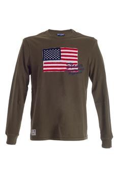 T-shirt g0567y mano pesca VERDE MILITARE