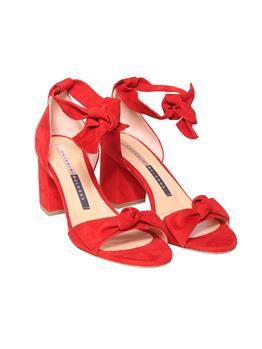 Sandalo chiarini con lacci ROSSO