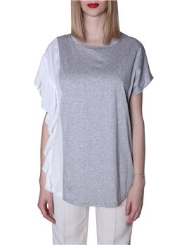 T-shirt twin set GRIGIO MELANGE