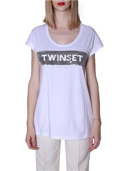 T-shirt twin set BIANCO P9