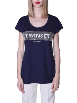 T-shirt twin set MID BLU