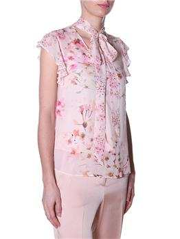 Blusa twin set fiori ROSA