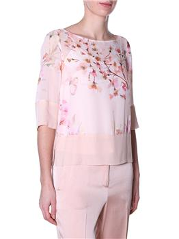 Blusa twin set fantasia fiori ROSA