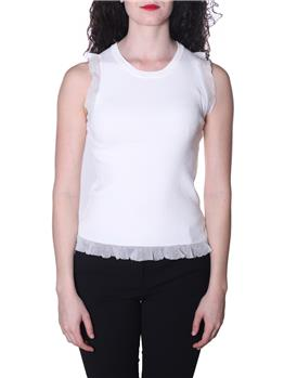 Top twin set con pizzo NEVE