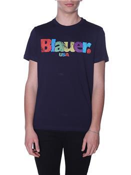 T-shirt blauer uomo logo BLU