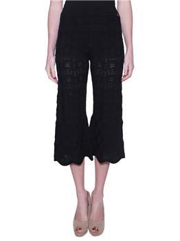 Pantalone twin set ricamato NERO