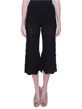 Pantalone twin set ricamato NERO