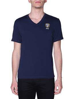 T-shirt blauer uomo scollo v BLU