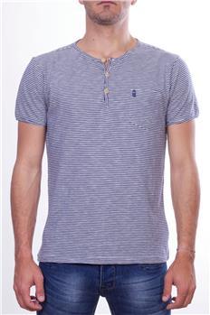 Henrilloyd t-shirt rigata BIANCO E BLU P6