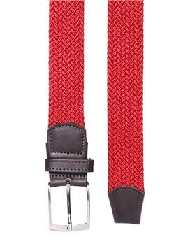 Cintura intrecciata elastica ROSSO