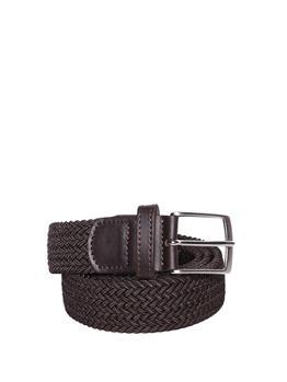 Cintura intrecciata elastica MARRONE SCURO