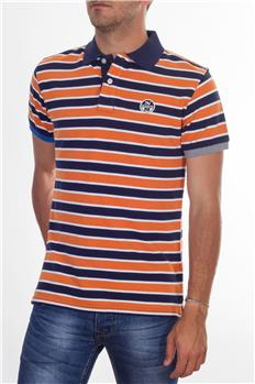 Polo north sails con righe ARANCIO BIANCO BLU