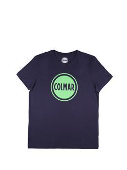 Colmar t-shirt logo giro collo BLU