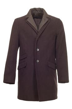 Cappotto aspesi con interno MARRONE SCURO