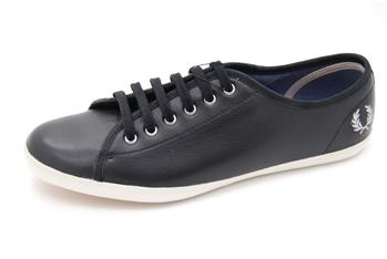 Scarpa fred perry pelle NERO