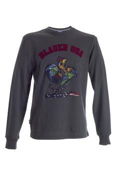 T-shirt blauer manica lunga VERDE Q3