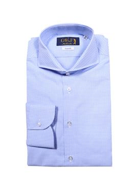 Camicia golf by montanelli QUADRETTO BIANCO E CELESTE