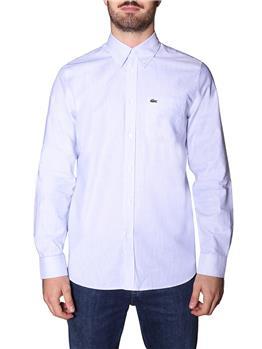 Camicia lacoste righe BIANCO E BLU