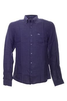 Camicia lacoste uomo lino BLU P2