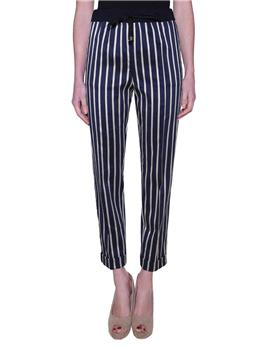 Pantaloni liviana conti RIGA BLU E PANNA