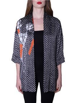 Giacca kimono manila grace NERO E ARANCIO