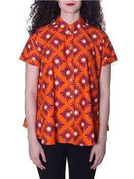 Camicia aspesi donna fiori FONDO ARANCIO