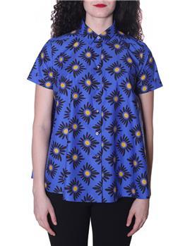 Camicia aspesi donna fiori FONDO BLU