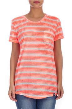 Superdry t-shirt donna rigata ARANCIO