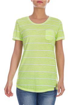 Superdry t-shirt donna rigata VERDE FLUO