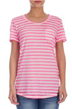 Superdry t-shirt donna rigata FUXIA