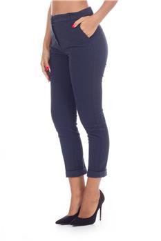 Pantalone manila grace rigato BLU