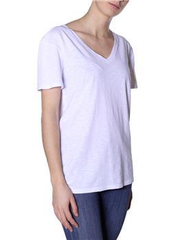 T-shirt manila grace scollo v BIANCO