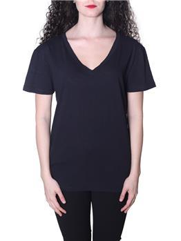 T-shirt manila grace scollo v NERO LAVAGNA