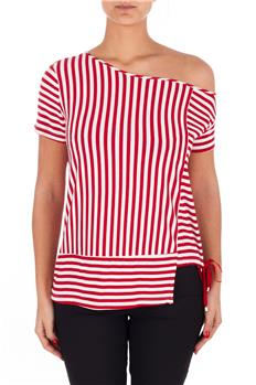 T-shirt manila grace jersey BIANCO E ROSSO
