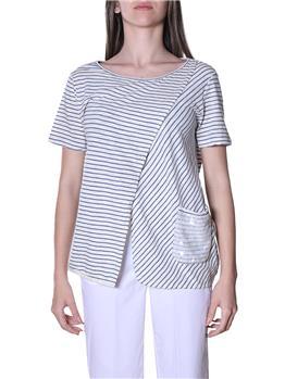 T-shirt manila grace pannello AVIO OFF WHITE