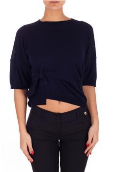 T-shirt manila con fiocco BLU