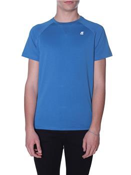 T-shirt k-way uomo basica BLUE AVIO