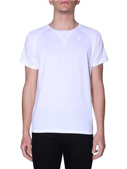T-shirt k-way classica uomo WHITE