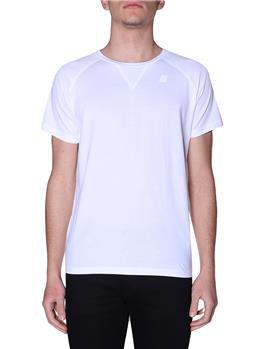 T-shirt k-way classica uomo WHITE