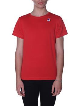 T-shirt k-way uomo classica RED