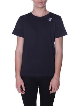 T-shirt k-way uomo classica BLACK P1