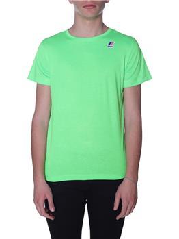 T-shirt k-way uomo classica GREEN FLUO