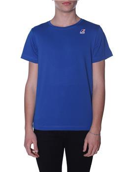 T-shirt k-way uomo classica BLUE ROYAL
