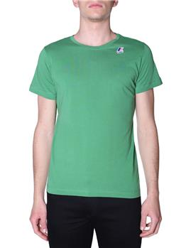 T-shirt k-way uomo classica GREEN MD