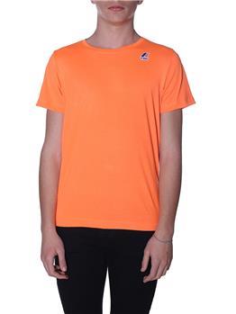 T-shirt k-way uomo classica ORANGE EXTRA FLUO