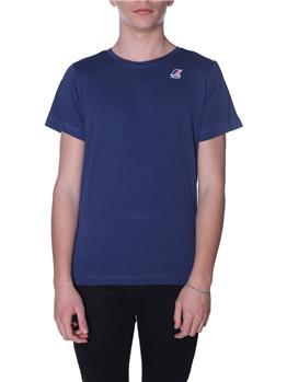 T-shirt k-way uomo classica BLUE DEEP