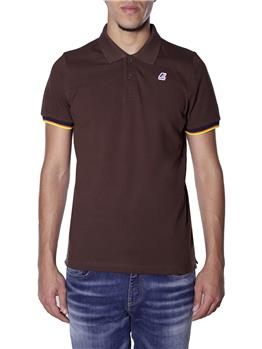 Polo k-way vincent contrast BROWN MORO