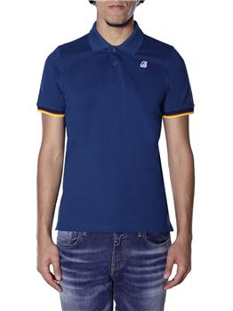 Polo k-way vincent contrast BLUE OTTANIO