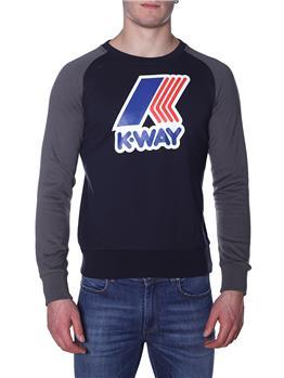 Elpa k-way scritta grande BLU